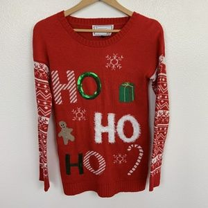 Christmas Ugly Sweater Red Sz: M